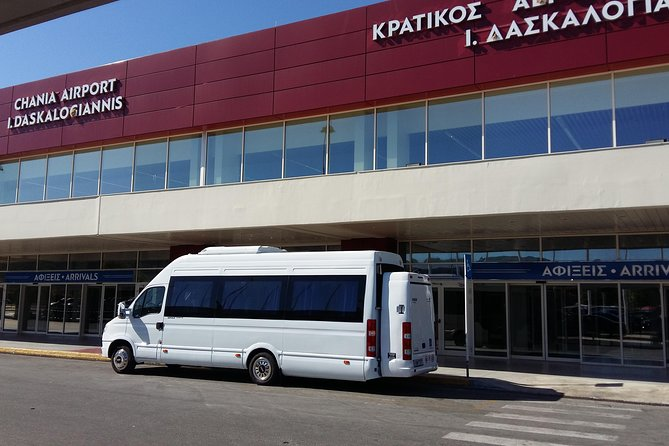 Chania Airport to Maleme transfer 15person-Wheechair,Scooter,Stroller Accessible, La Canea, Grécia