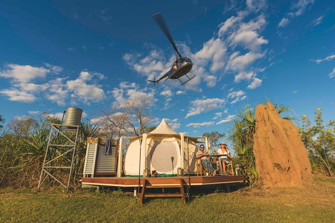 Combining unique Top End activities with an amazing outback glamping experience this is one adventure you won't forget! <br><br>Situated in an exclusive location, this tour comes complete with airboat cruise, crocodile encounters, helicopter scenic flight, overnight glamping, amazing food, and more.