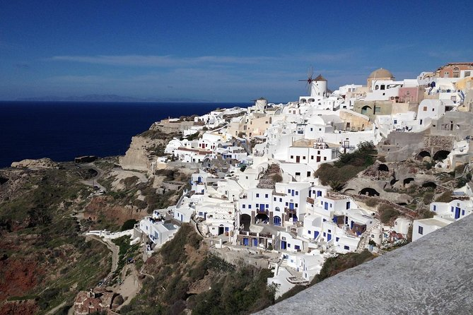 Full day sightseeing tour is an all-day pure Santorini experience that you can't miss! Joining this tour you will discover the most important archaeological site of Santorini, details about the wine heritage of the island as we will visit the only Wine Museum of Koutsoyanopoulos Winery, amazing caldera landscapes, a stop at the highest spot of the island and the Monastery of Prophet Elias, and you will have the opportunity to enjoy your lunch by the sea. The tour concludes with Santorini's most treasured moments as we will take you to the village of Oia to enjoy the magnificent sunset! Embark on a tour that will take you only to the best of Santorini!