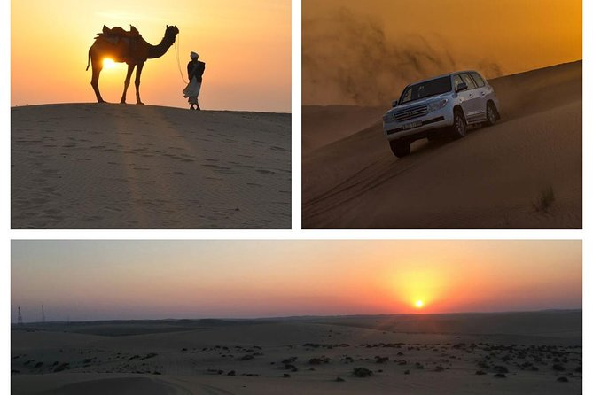 Most popular sunset desert safari in Qatar. Sunset desert safari is a mixture of a thrill and romantic tour, we offer a private tour, will ride 4x4 vehicle with our well experience desert driver and enjoy a short camel ride, sand boarding, visit the inland sea where you can see Saudi Arabia border on the other side of the sea.Last you will stop for the extraordinary sunset desert view.
