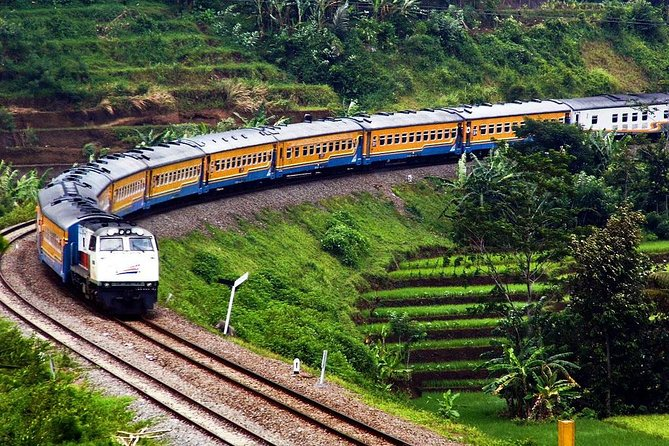 In the morningour guide will pickup from hotel andwill depart <br><br>Jakarta go to Bandung in West Java by Train (Ticket subject to Availability). it will take about a 01 hours by Train. Upon arrival in Bandung, head to the rim of <br><br>Tangkuban Perahu volcano mount, a smoldering 2000 meter-wide volcano. Start with a walk around the main crater, Kawah Ratu, and next continue to <br><br> Sariater Hot springenjoy the warm sulphured water is for healing skin. enjoy <br><br>lunch at a local restaurant. Continue to a small street in the center of Bandung Jalan Braga which was famous since 1920 as a promenade street. Chic cafes, boutique and restaurants with European ambiance along the street had made the city to attain the Paris Van Java nickname. If time permits, you may continue to enjoy a shopping stop at a <br><br>factory outlet along Dago & Riau street. Transfer back to Jakarta by Train.