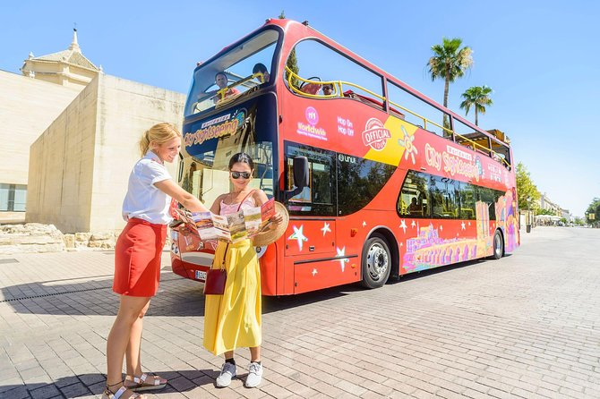 There is no better way to see Cordoba than on this City Sightseeing double-decker, hop-on hop-off bus! See top Cordoba attractions on this comprehensive sightseeing tour, such as Mezquita (the cathedral-mosque of Cordoba), the Roman Temple of Cordoba, Calahorra Tower and much more! With a 24 hour ticket you can hop on and off as many times as you like at any of the 17 stops around the southern Spanish city!