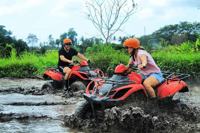 this is a very good combination to do. after playing mud on a quad bike then snorkeling with clear water accompanied by beautiful fish. feel riding a 2-hour quad bike with the best quad bike tracks in Bali passing, waterfall, tunnel, muddy, rice fields, river, jungle, forest, fun up and down trail to high hill. there are 2 types of drive types that can be chosen, namely single ride (1 bike one person) and tandem ride (1 bike two person), and snorkeling at the best snorkleing in Bali spot is a Blue lagoon beach with beautiful fish and coral and clear water. and if you are lucky you can see a turtle<br><br>You will not regret doing this game.