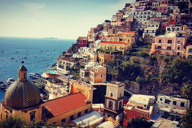 Discover the sights , sounds and colors of the spectacular Amalfi coast . Take part to this unique tour that has been created following the high request of our tourists. The only tour among all the operators that allows you to visit Positano , Amalfi and Ravello down town in only one day . This tour will be perfect choice for those who prefer high quality service in very small group for very accessibile price. Maximum size of the group is 8 participants. During the panoramic drive along the coast, your professional english speaking driver will provide you with live commentary so you will learn some curiosities about divine and misterios Amalfi coast where everything seems to be suspended between sky and sea. You will have 1 hour of the free time to visit the picturesque villages of Positano, Amalfi and Ravello , three of the jewels the Amalfi Coast is famous for.