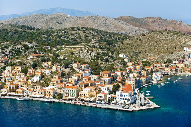 Book a full day cruise to Symi - a little boutique island next to Rhodes. On our way to Symi we will stop for swimming and snorkeling at one of the most beautiful beach all around the world – Saint George's bay.