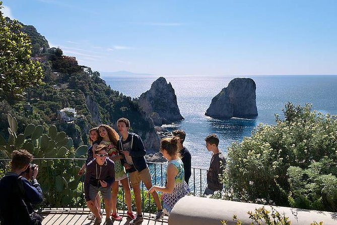 Reach the wonderful island of Capri by Jetfoil and start to explore it being guided by a local guide. <br><br>Visit the highest part of Anacapri with its breathtaking views over the sea and then continue to Capri town to enjoy the tiny alleyways and little shops. <br><br>Please note: At guide's discretion the order of the visits may vary depending on crowds and queues. Don't forget your camera, comfortable footwear, water, sun protection and hat.