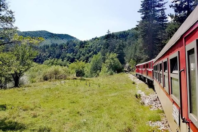 """This unusual train, crawling through the mountains, will introduce you to the big stories of the """"Little railway"""".<br><br>We'll embark on a magical journey through one of the most romantic and beautiful railway routes in Europe - the narrow gauge railway which goes from Septemvri to Dobrinishte.<br><br>A travel in time which will help you immerse in times past and breathtaking scenery while being on board a comfy and warm Little train saloon.<br><br>An open intersection between the wagons, many stories, and meetups with the locals are just a few of the emotions that are awaiting you in this wonderful trip!<br><br>The railway is in the rankings for """"Most interesting railway routes in Europe"""" published in the European Railway Guide. It's also passing by the highest train station on the Balkan peninsula - Avramovo, situated at 1267m.<br><br>Don't hesitate and give yourself a magical and unforgettable winter day in the Bulgarian countryside filled with beauty, history, warmth, romantics and many positive emotions!"""