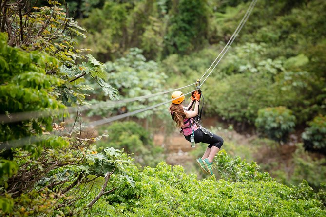 Zipline at Toro Verde prepares you to enjoy the best adventure from the heights of Orocovis. Travels and enjoy incredible views of the mountains of Puerto Rico in our eight ziplines loaded with emotion and adrenaline. A unique experience that you don't must missed.<br><br><br><br>RESTRICTIONS:<br> • Minimum height 4 feet <br> • Maximum participants weight 300 pounds. <br> • Close toe shoes are required.