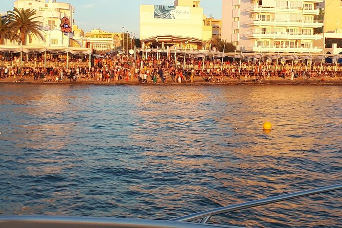 Enjoy CBBC, and sunset in Cafe Del Mar Ibiza on a Catamaran, Ibiza, ESPAÑA
