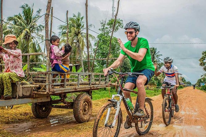 Cycle on unpaved paths in the picturesque countryside on this half-day bike tour from Siem Reap. An informative guide takes you beyond the temples of Angkor on a mostly flat 18-mile (30-km) ride through rice fields and small villages, with plenty of stops to learn about daily life. You'll get a glimpse of Cambodia that tourists don't often see, and sample local snacks along the way. Numbers are limited to 14 participants.