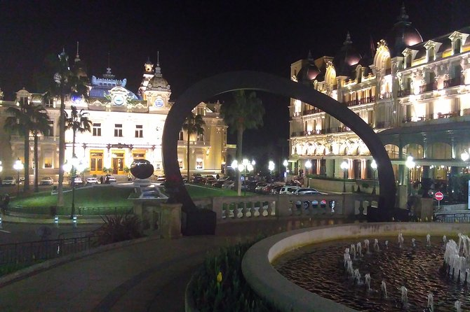 Venture into Monte Carlo at night with this private 5-hour tour from Nice. A private driver and guide will escort you to the region where you will enjoy guided visits to historical monuments such as the Prince Palace. Partake in 3-hours of free time in Monte Carlo Square where you may have dinner, visit the casino, and more.