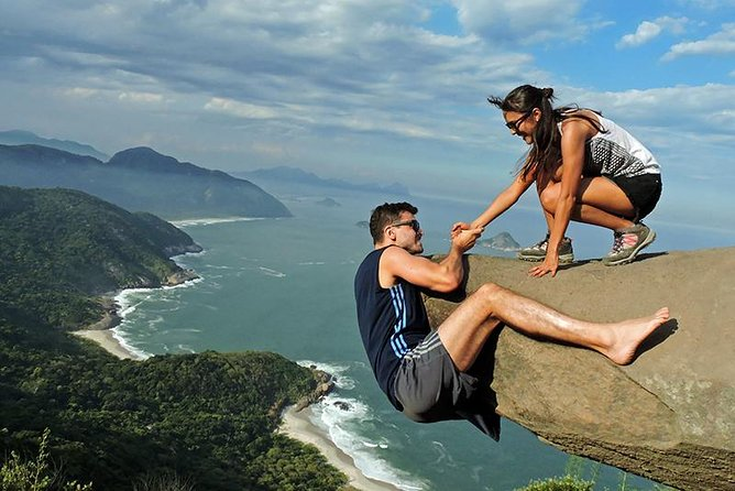 At 1,161 feet (354 meters) high, Pedra do Telégrafo, located in Pedra Branca State Park, offers sweeping views of beaches and Guaratiba Hill. With a guide, you'll hike to the summit, stopping at viewpoints along the way for photo ops. When booking, you can select the group tour option or upgrade to a private tour, which includes hotel pickup and drop-off in Rio de Janeiro.