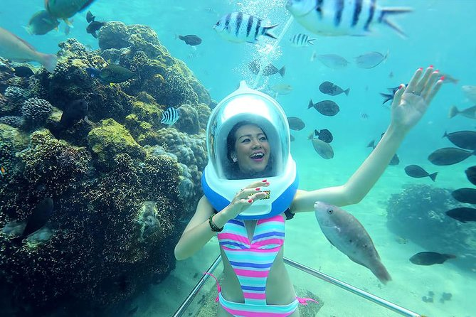 Bali Activity: Sea Walking in Sanur Ocean and White Water Rafting is one of the best Bali Double Activities with wonderful experience to joining two adventure in one day. Start pick up from your hotel at 08.30 AM we will drive you to Sanur Beach where you will enjoy 30 minutes walking on the sea with many colourful fish and beautiful coral reef. After finish this activity we will drive you to Telaga Waja River, before start rafting we will serve your buffet lunch in a restaurant. After lunch finish we will drive you to our rafting starting point, you will get safety instruction from our river guide before exploring the river. The white water rafting is to explore the beautiful Telaga Waja River stretch 16 km with stunning view of rice paddy and pure nature of river and expanding the slide down on 4 meter dam. This packages is offered to everyone who like water adventures with memorable experience that can not forget.