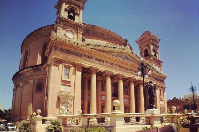 This tour comes for not more than 4 persons. Mosta Dome is one of the biggest church in Malta, its even bigger than St Pauls in London. Mdina glass is the leading maltese glass maker will be visiting the shop and also the factory where they blow the glass. Crystal Palace in Rabat 'town in the northern' is a shop where you can taste our traditional Maltese pastizzi (small, flacky pastry puffs filled with mushy peas, or ricotta cheese or even chicken) you can also enjoy a nice cup of tea or coffee. Last stop maltas oldest city Mdina. Mdina is also known by its title Citta Vecchia or Citta Notabile. In Mdina you will find several barque features and even several types of restaurants where you can have a lovely lunch (your expence), one of them named Fontanella tea garden wich has amazing view and good pasta, also famous for its desserts and coffees. Hope you enjoy your tour.