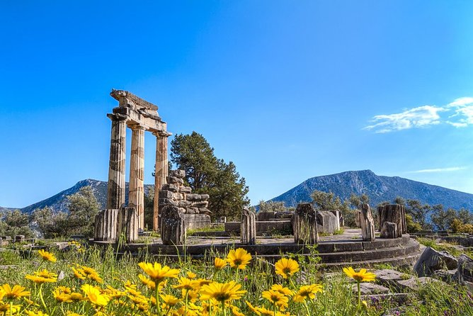 Explore one of ancient Greece's most mesmerizing archaeological sites, the UNESCO World Heritage Site of Delphi, on this 10-hour guided day trip from Athens by coach. See highlights of the place where Ancient Greek prophetesses issued oracles, explore the Archaeological Museum, and pass by the pretty mountain village of Arachova. Tour includes entrance fees: upgrade to add a 3-course restaurant lunch.