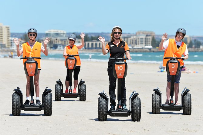 """The only guided Segway Tours in South Australia! passing iconic sights and free time to ride on the Beach. """"Wheelie Good Fun""""<br>"""