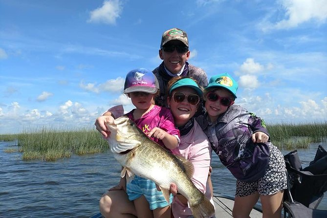 Embark on a private, 4-hour guided freshwater fishing trip on Lake Okeechobee. Famed for its largemouth bass, set out on the lake with your experienced guide and see what you can catch. All equipment is included.