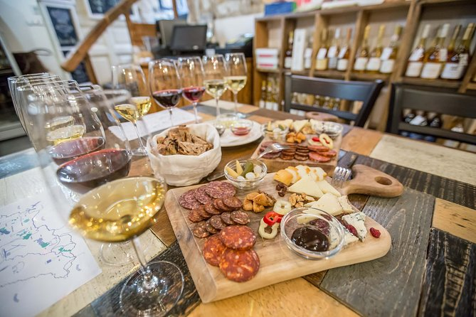 Enjoy Hungarian wine, cheese, and charcuterie on this 1.5-hour tasting experience in Budapest. Led by a professional sommelier, get an annotated tasting featuring five top-notch Hungarian wines paired with a selection of the country's best artisan cheese, charcuterie, and artisan bread. Mark your favorites on a provided tasting sheet.