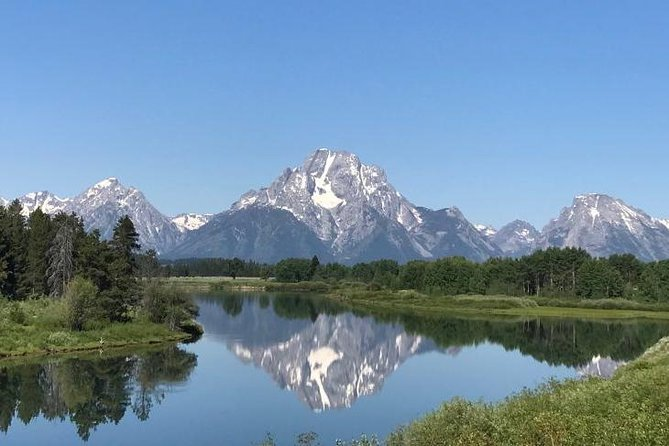 This private tour gives you the opportunity to see the major wildlife, scenic vistas, and cultural sites of Grand Teton National Park in one day (approximately 8-9hours). <br><br>During this tour you will have a chance to see moose near Mormon Row, visit the Pierce Cunningham Cabin (the site of an old-fashioned western shootout), Mt. Moran's reflection in Oxbow Bend, the historic Jackson Lake Lodge, Coulter Bay Marina, Signal Mountain, Jenny, Jackson, and Leigh Lakes, and the Bar BC Dude Ranch before returning to Jackson, Wyoming. <br><br>Wildlife you could potentially see include beavers, black bears, grizzly bears, bison, coyotes, eagles, elk, mule deer, osprey, and pronghorns.