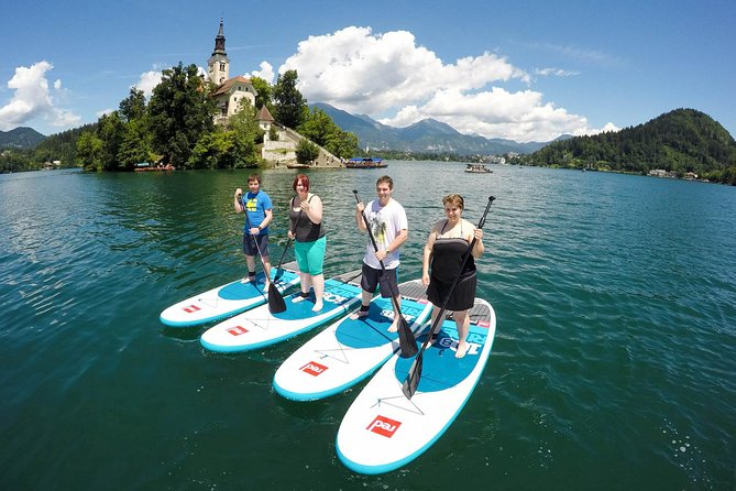 Expect only a very fun or totally relaxing paddle boarding session on Lake Bled. We will start with brief SUP introduction, so anyone who knows how to swim can join (even without any prior knowledge of paddle boarding).