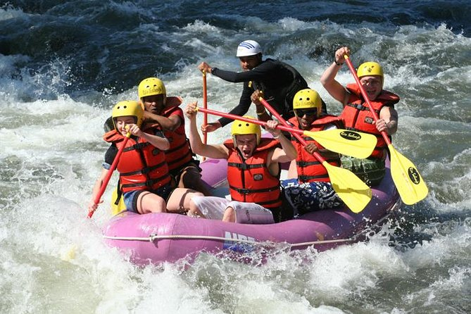 Enjoy thrilling rapids on an exciting rafting adventure down Colombia's Rio Negro, a tropical river located outside of Bogotá. Leave Bogotá behind and feel your adrenaline rush as you learn to paddle and navigate through the picturesque Rio Negro on a guided river tour, perfect for all skill levels!