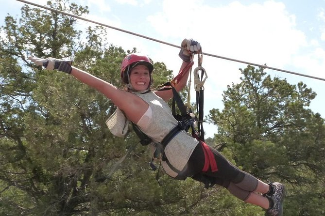 Fastest zip line course on the North American Continent! reaching speeds of 60 mph (depending on prevailing wind). Moderate hiking via 2/3's of a mile of trails with a few sustained trails that will elevate your heart rate. Gorgeous views of the Sangre De Cristo Mountains!