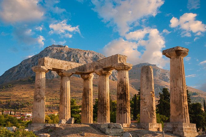 Starting your trip from Nafplion, your first stop is the archaeological site of Mycenae. You will travel to the mythical Kingdom of Agamemnon, where one of the most brilliant cultures of Greek prehistory, the Mycenaean civilization, developed. You will then head to the Lions Gate, the monumental entrance of the palaces. <br><br>Next, you will see the Cyclopean walls around the Acropolis, and the tholos tombs of Atreus and Clytemnestra's.<br><br>The next stop is the Corinth Canal, which connects the Corinthian bay with the Saronic Gulf and Ancient Corinth, with the famous temple of Apollo and the steps of Apostle Paul. You will continue the tour of ancient Epidaurus, where you will explore the ancient theatre of one of the most famous archaeological monuments in Greece.<br><br>You will also visit the Asclepieion of Epidaurus, which was the centre of healing serious diseases for the whole of ancient Greece. Many monuments developed around it, most notably the temple of Asklepios, Tholos and others.