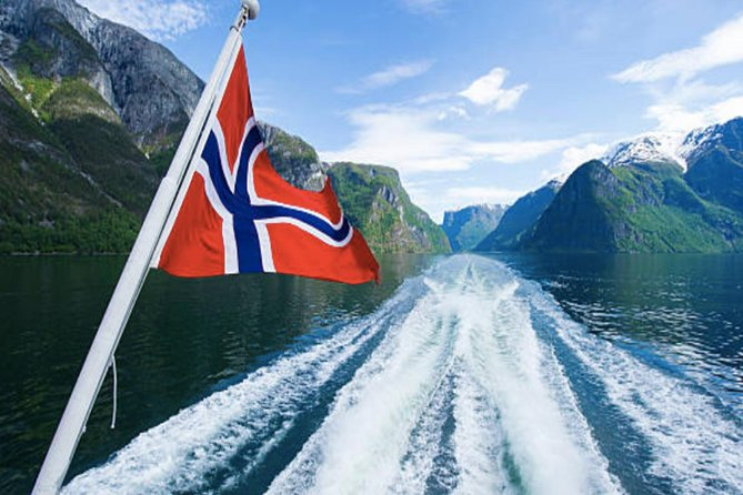 Join our catamaran to see the Fjords, mountains and waterfalls in style on this stunning 27KM long Osterfjord Fjord cruise. Catch a bucket of ice-cold mountain water from the boat whilst we touch close to the waterfall.