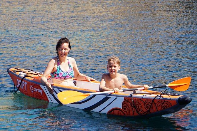 Viajes al atardecer de aventura de surf de remo, Ibiza, ESPAÑA
