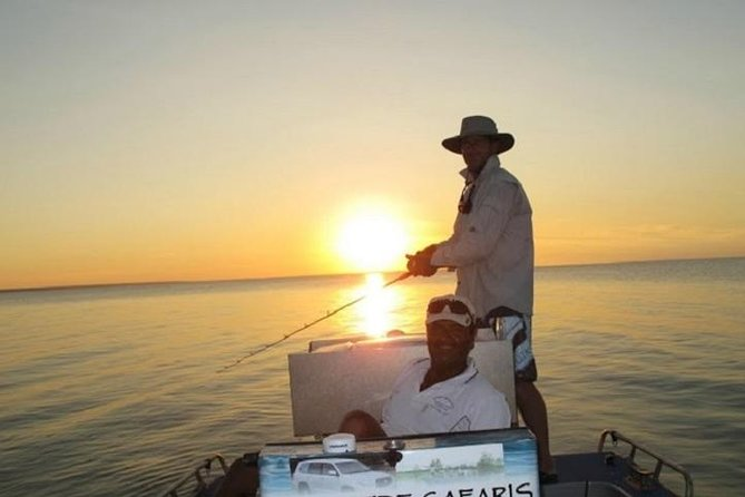Offering you the choice of fishing in the salt waters of Darwin Harbor, Adelaide River and Bynoe Harbor or the fresh waters of Corroborree Billabong and Shady Camp, this is the perfect option for the whole family including non-angling partners. All tours depart Darwin at 5am, before traveling 1.5-hours to your fishing destination in air conditioned 4WD comfort. After a memorable day your guide will drop you back at your accommodation in Darwin at 5pm.