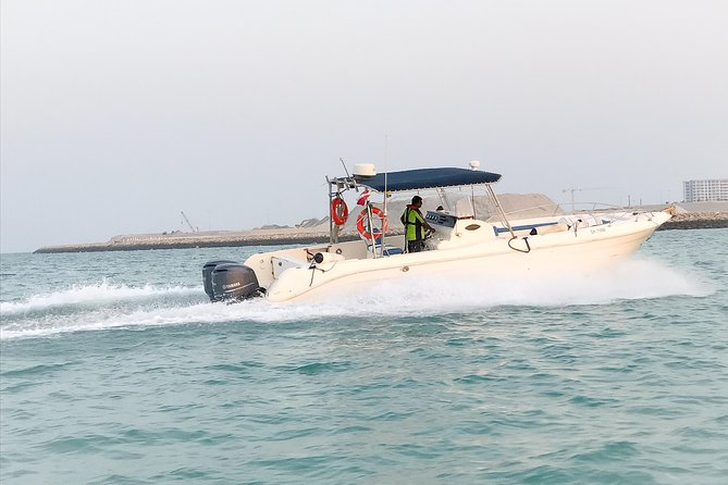 You meet us at Amwaj Marina and we welcome you aboard, cast off the lines and set off into blue. <br><br>We will get you out on the water for 30 minutes, around Amwaj Islands, whenever it suits you.<br>