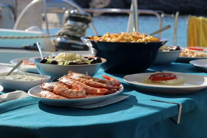 Mykonos Catamaran Private Sailing Cruise with Food and Drinks, Miconos, Greece