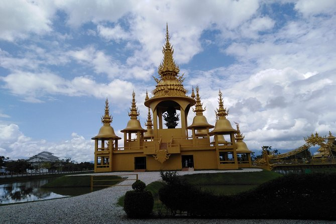 0830-0900 pick up from your hotel to visit White temple, tea plantation, longneck village and cruise at Maekhong River.
