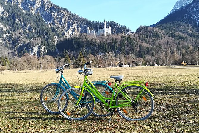 We rent new bikes in Fuessen to Neuschwanstein castle .Daily Train from Munich to Fuessen (at your own expense).Fussen it´s just only 4km fare from  the castle Neuschwanstein and Hohenschwangau.it´s 20min bike ride to the castle it´s easy,relax and unforgotten scenery along the alps,lakes and even you can visit Austria.We have here lot´s  of bike path and it´s really very save to drive. bike incl. free city maps and key to lock your bike. our staff give you some information what you can else do here..with the bike you are more flexible,don´t wait for the public bus and don´t need stay in the line to get a seat. you save your money instead and it´s good for your health. .you can use our bike for for the day to explore this beautiful region. <br><br>you can use Bayern ticket it´s a round trip ticket and start during the week from 9:00am and saturday and Sunday from 6:00am till midnight