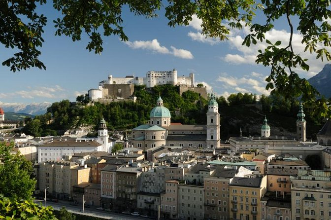 Start your tour by walking through the Mirabell Garden.<br><br>At the next square, you will see Mozart's Residence and the Trinity Church <br><br>Walk to the Salzach river and enjoy a beautiful view of the old town of Salzburg. Explore the historical city centre.<br><br>Find beautifull wrought iron signs or Mozarts Birthplace right in the centre of Getreidegasse. <br><br>Continue to the Farmers Market at the University square. This big, baroque church forms an impressive backdrop for the food stands. <br><br>The Old Market square is known for nice coffee houses.<br><br>The tour stops at the Residenzplatz with a big Residence fountain. Take a walk into the Salzburg Dom and find many frescos, altars, organs and baptismal.<br><br>At the end of the tour take the funicular to the top of the Fortress Hohensalzburg and enjoy the view into Salzburg. <br>