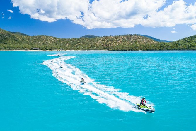 Multi award winning Whitsunday Jetski Tours offers exciting adventure tours in the Whitsundays and is the first and only guided jetski tour operating from Coral Sea Marina, Airlie Beach to the Whitsunday Islands. Guests can ride the latest model Sea-Doo jetski into the beautiful world heritage Whitsunday Island Marine Park.<br><br>Three tours operate daily, the Airlie Adventure, also known as the 'Turtle Tour' with sea turtles often encountered, the Two Island Safari, exploring the waterways of South Molle and Daydream Islands and the Ultimate Island Trek, an epic jetski journey to the island oasis of Palm Bay Resort. <br><br>No license is required and no experience is necessary!
