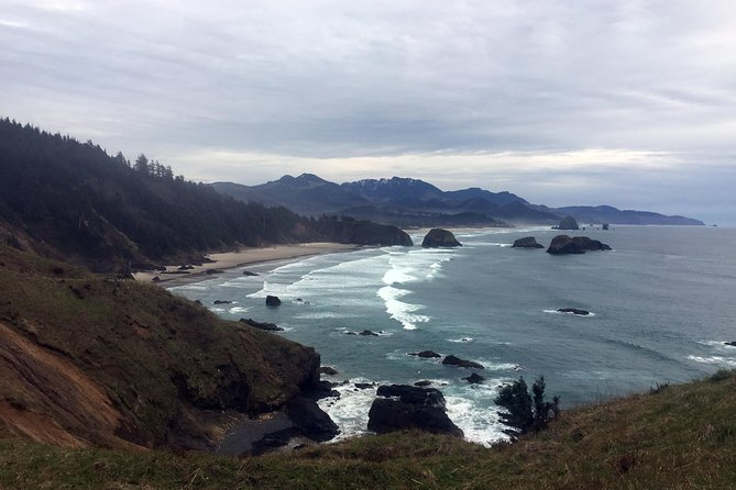 This day trip is a customized tour along a section of rugged coastline along Oregon's northern coast. There will be one or two town stops, and multiple stops at headlands and beaches. After your pickup in Portland, we'll discuss the interests of people in the group, and your guide will customize the itinerary to those interests. Regardless of interests, the trip will include driving the Pacific Coast Scenic Byway with a short hike through oldgrowth Sitka spruce forest, beach time, tide pools, sea stacks, viewpoint stops, and a lunch stop in a charming coastal town. If group interest allows, stops with a more technological history focus may be made, such as the Tillamook Air Museum, Tillamook Creamery (currently closed due to COVID-19), or Camp 18. <br><br> - Please be prepared for whatever the weather may be when your tour runs <br> (e.g. rain gear, sunglasses, hat, extra layers, sunscreen).<br> - Wear shoes that you don't mind getting sandy and wet.