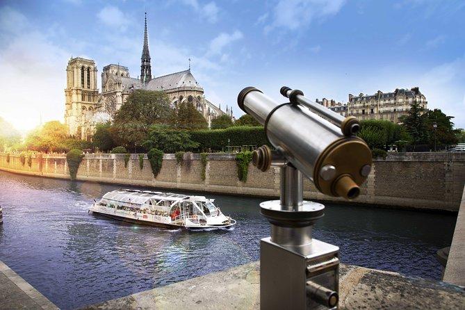 Cruzeiro panorâmico no Rio Sena em Paris, Paris, França