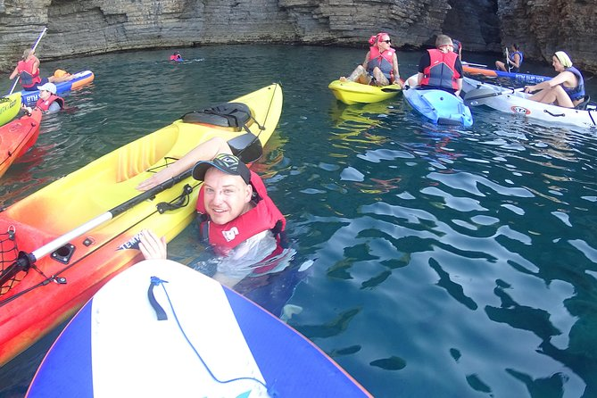 Enjoy a 3 to 3,5 hour SUP and kayaking guided tour along the amazing Budva bay with beautiful costal caves and 2500 year Budva Old Town view.