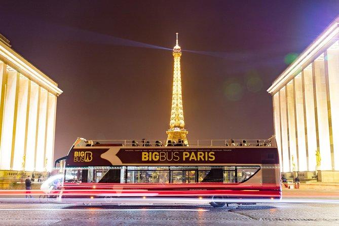 Recorrido nocturno en el Big Bus por París, Paris, FRANCIA