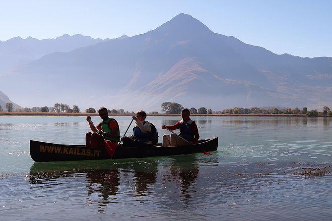 Canoeing Mezzola Lake, Italian Alps, ,