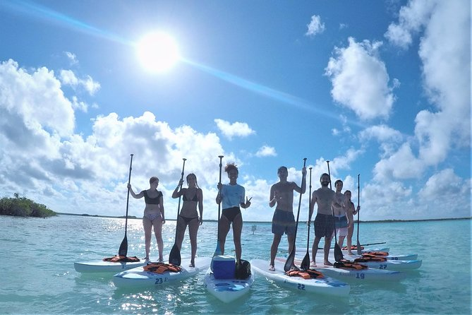 Paddle across the lagoon first thing in the morning, enjoy the beautiful calmness of this unique ecosystem and discover why Bacalar is becoming the ideal destination to practice Stand Up Paddle-board. Whether you are beginner or not, our instructors will make sure you paddle properly.<br><br>Arriving to the Black Cenote we'll take a relaxing break to watch the sunrise over the lagoon, meanwhile we'll take some beautiful photos for you.<br><br>Afterwards we'll visit the Pirates Canal, emblematic main connection with the ocean used by Mayas and Pirates to come to Bacalar.<br>