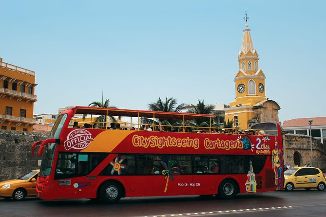 When your cruise is in port, explore Cartagena on a 1 or 2 day hop-on hop-off bus tour. This bus pass enables you to tour the Colombian port city at your own pace, hopping on and off as you please within the given time period. Discover all of Cartagena's best landmarks, including Torre del Reloj, Castillo de San Felipe, Museo de Rafael Nunez, Muelle La Bodeguita, and much more! From the open-top deck, enjoy beautiful 360 degree views, whilst marvelling at the fantastic architecture. Be sure to listen to the on-board audio tour commentary to get a real sense of the history behind what you're seeing. Hop off the double-decker bus to get an authentic taste of the local culture, and take part in the included walking tour, for a brilliant guided stroll. You'll also get free entry to the Museo de la Esmeralda, another great perk of this Colombian sightseeing adventure! <br>