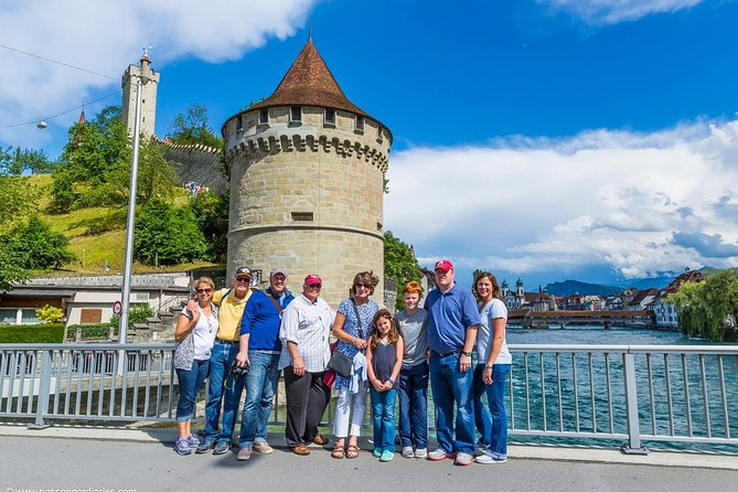 "Want to experience Lucerne like a local? <br><br>Join me in a Small Group Walking Tour as we visit world-famous sights such as the Chapel Bridge with the octagonal Water Tower, the Jesuit Church and the KKL Luzern (Culture and Convention Centre Lucerne). On the tour you will learn important and humorous facts about the history of Lucerne and the everyday life of its residents. You will discover hidden alleys, visit town squares and even catch a glimpse of the city's ""crown, "" the Musegg Wall. We will end the tour with a visit to the Lion Monument. We will also visit Lucerne castle. This is a Small Group Tour up to 6 persons. As an optional Tour Extension you can either visit the Glacier Garden in a self guided tour or the Swiss Chocolate Adventure at the Transport Museum with an audio guide in several languages and a basic chocolate tasting."
