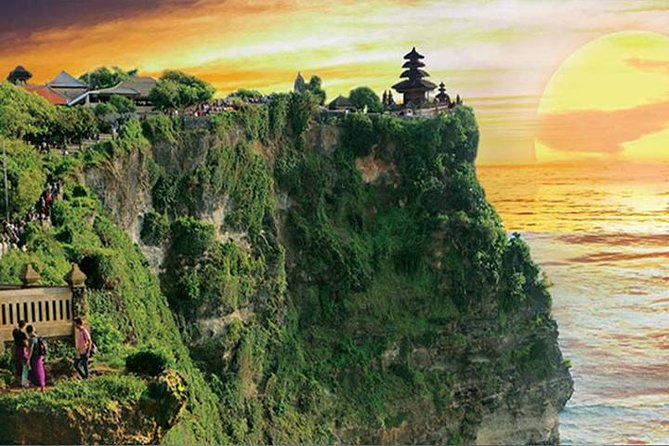Uluwatu Sunset Temple.<br><br>With this half day tour, you will spend 5-6 hours day tour with hotel pick up at late afternoon.<br><br>The tour guide will escort you to the secret southern cliff temple, walk around the temple and cliff.<br><br>Then wait the most romantic sunset from the temple compound or while watching amazing Kecak and fire dance performance at Uluwatu Stage.<br><br>Opportunity to visit Jimbaran beach village to have fresh seafood candle light dinner <br>