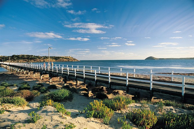 Travel through the picturesque Adelaide Hills and into the Fleurieu Peninsula, where the vines meet the sea.  Pass through Goolwa and onto Victor Harbor, a popular seaside town, before returning to Adelaide via the famous McLaren Vale wine region.