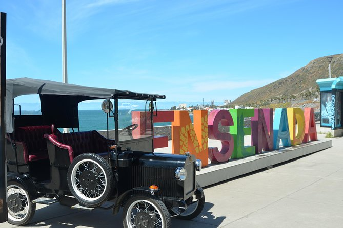 Come and explore the city of Ensenada  on  this unique vintage 1903 Ford model T replica  car. A private chauffeur will take you to and from  famous land marks, restaurants , bars and shops in Ensenada.