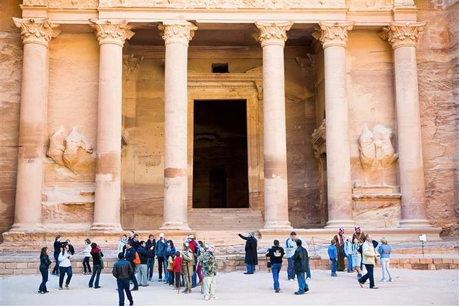 Experience Aqaba, Wadi Rum and Petra in this overnight tour from Eilat. View the ancient artifacts and ways of life.