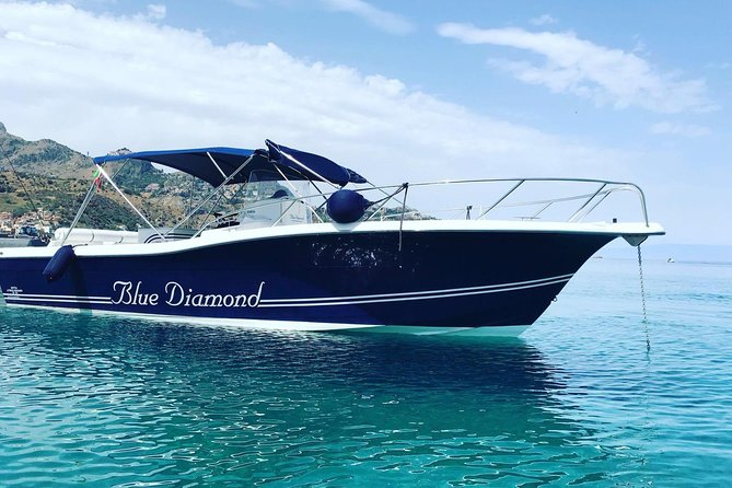 """Enjoy a 2-hour boat trip to explore the most beautiful places of Taormina coastline.<br><br>This small group tour will depart from Giardini Naxos port and will take you to discover some stunning sites such as: Cape Schisò, Cape Taormina, Cross' rock, Prickly pears' rock, Cave of the mermaids, Grotta Azzurra ( Blue Cave), Coral Cave, Bay of Mazzaro<br><br>Bay of San Nicola (or the Bay of the Mermaids) and Rock of """"Ziu Innaru"""".<br><br>Also, during the tour you'll have the chance to stop for at Isola Bella (Beautiful Island) bay for a swim or for snorkelling and then enjoy a snack/drink or some fresh fruit.<br><br>A truly unmissable tour if you are in Taormina for your holidays!"""
