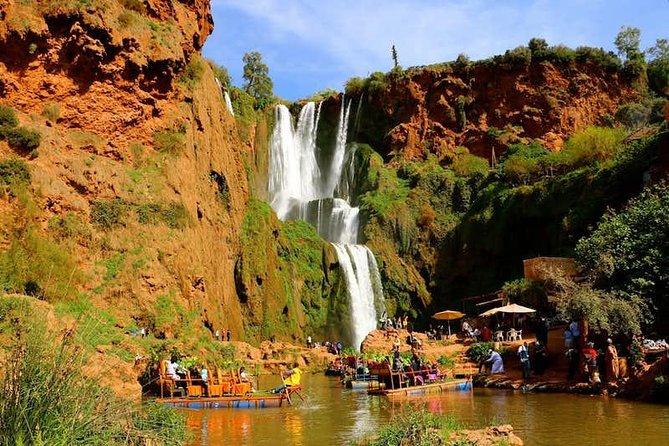 Standing at around 330 feet (100 meters) tall, the Ouzoud Falls are a popular location for tourists looking to get away from the city and into the wilderness of the Atlas Mountains. Take a break from Marrakech for the day without attaching yourself to a tour group of strangers on this private tour to the Falls. Spend the day hiking around the Falls and witnessing the spectacle of its multi-storey torrents tumbling down the mountains. Finish your day with a picturesque sunset camel ride through some Marrakech palm groves.